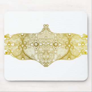 Lace Strip Yellow Mouse Pad