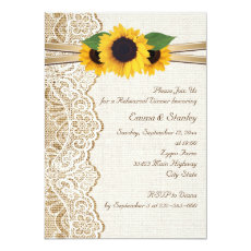 Lace, sunflowers & burlap wedding rehearsal dinner 5