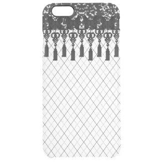 Lace Tassels Argyle Clear iPhone Case