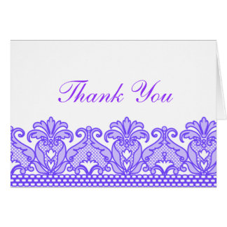 Lace Thank You (Purple) Card
