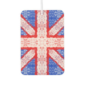 Lace Union Jack England Flag in Red, White, Blue Air Freshener