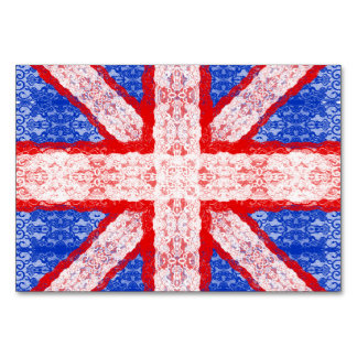 Lace Union Jack England Flag in Red, White, Blue Card