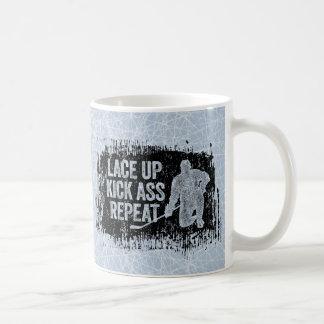 Lace Up. Repeat. (hockey) Coffee Mug