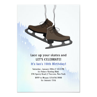Lace Up Your Skates Invitation