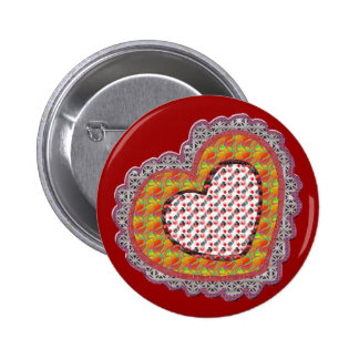 Lace Valentine T-shirts and Gifts Pinback Button