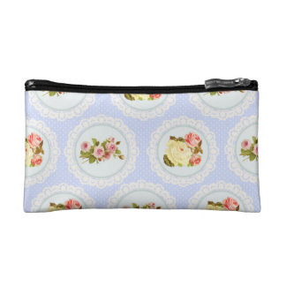 Lace Victorian Floral pattern Cosmetic Bags
