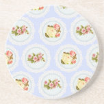 Lace Victorian Floral pattern Drink Coaster