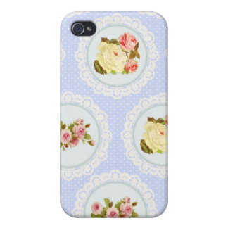 Lace Victorian Floral pattern iPhone 4 Cases