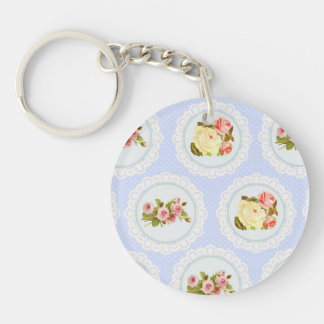 Lace Victorian Floral pattern Keychain