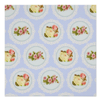 Lace Victorian Floral pattern Poster