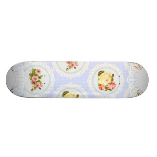 Lace Victorian Floral pattern Custom Skateboard