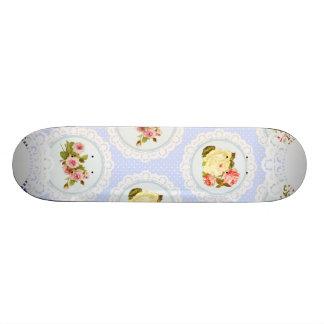 Lace Victorian Floral pattern Skateboard Deck