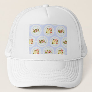 Lace Victorian Floral pattern Trucker Hat