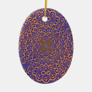 Lace Vortex Ceramic Ornament