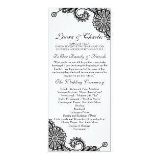 Lace Wedding Program - Tea Length Wedding Program