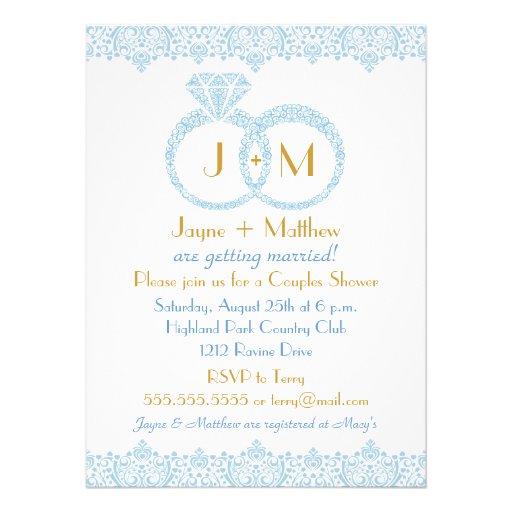 Lace wedding rings invitation 55quot x 75quot invitation card for Pictures of wedding rings for invitations