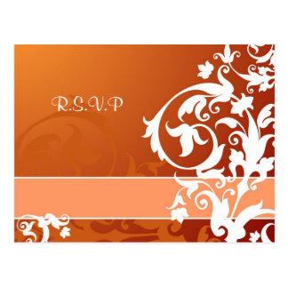 Lace Wedding RSVP card