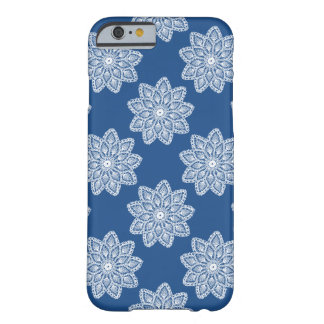 Lace with blue background barely there iPhone 6 case