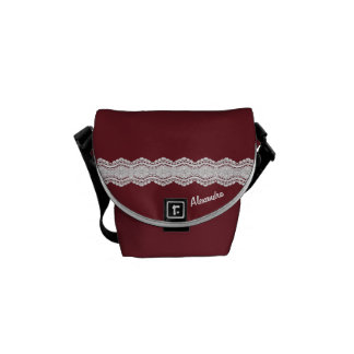 Lace & Your Name Messenger Bag