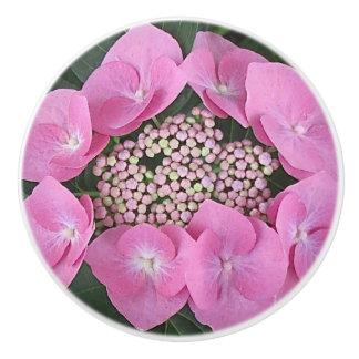Lacecap Hydrangea Ceramic Pull Ceramic Knob