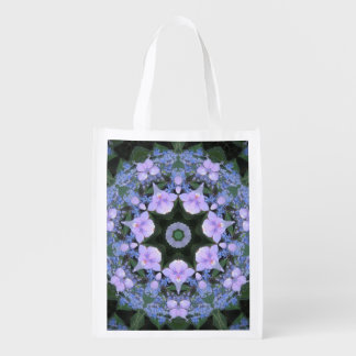 Lacecap Hydrangea Market Bag Grocery Bag