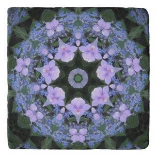 Lacecap Hydrangea Stone Trivet