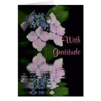 Lacecap Hydrangea Thank You Card