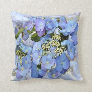 Lacecap Hydrangeas Pillow