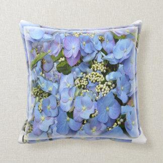 Lacecap Hydrangeas Throw Pillow