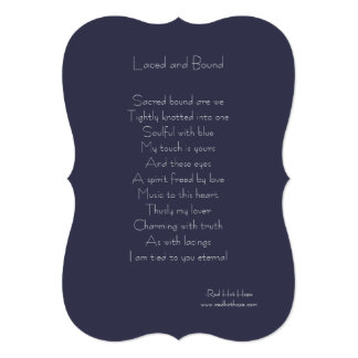 Laced and Bound Card