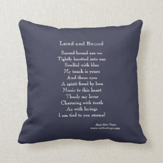 Laced and Bound Throw Pillow