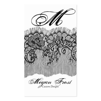 laced customize your monogram Double-Sided standard business cards (Pack of 100)