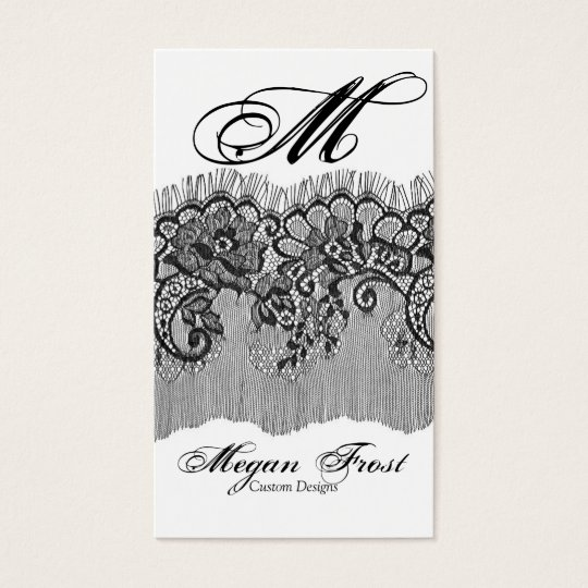 laced customize your monogram business card
