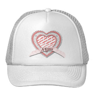 Laced Heart For Mother's Day Photo Frame Trucker Hat