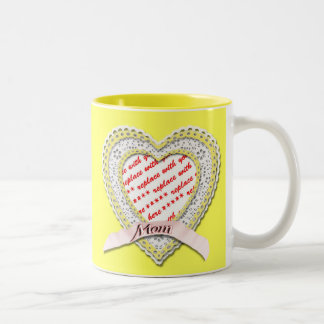 Laced Heart For Mother's Day Photo Frame Coffee Mug