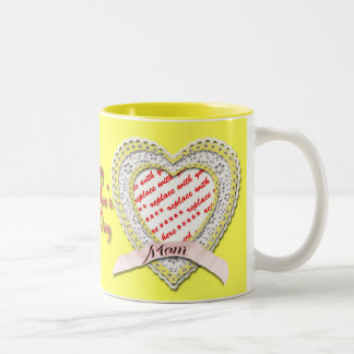 Laced Heart For Mother's Day Photo Frame Mugs