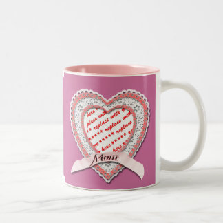 Laced Heart For Mother's Day Photo Frame Coffee Mugs