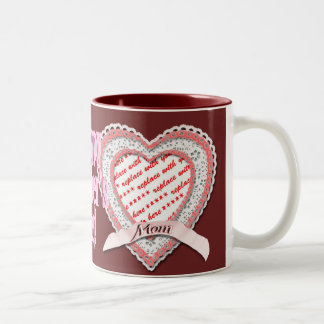 Laced Heart For Mother's Day Photo Frame Mug