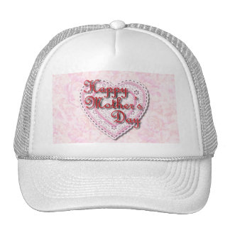 Laced Heart (On Pink) for Mother's Day Hats