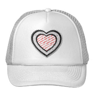 Laced Heart Shaped Photo Frame Hats