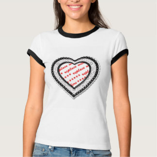 Laced Heart Shaped Photo Frame T-Shirt