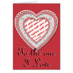 Laced Heart Shaped Photo Frame Template Greeting Cards