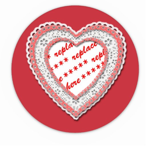 Laced Heart Shaped Photo Frame Template Cut Outs