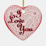 Laced Heart Shaped Photo Frame Template Christmas Ornaments