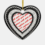 Laced Heart Shaped Photo Frame Template Ornaments