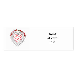 Laced Heart Shaped Photo Frame Valentine Business Card