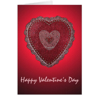 Laced Heart Valentine's Day Card