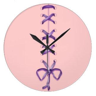 """""""Laced Ribbons"""" Wall Clock"""