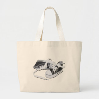 LacedTennisShoes032112.png Large Tote Bag