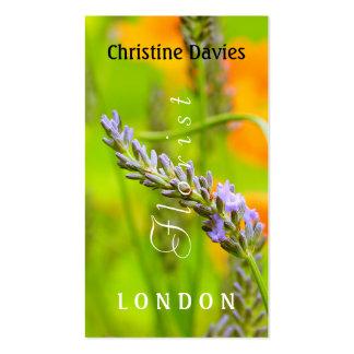 Lacender  photograhy, florist business card